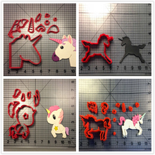 Фотография Animal Unicorn Custom Made 3D Printed Fondant Cupcake Decorating Tools Cookie Cutter Set Kitchen Accessories