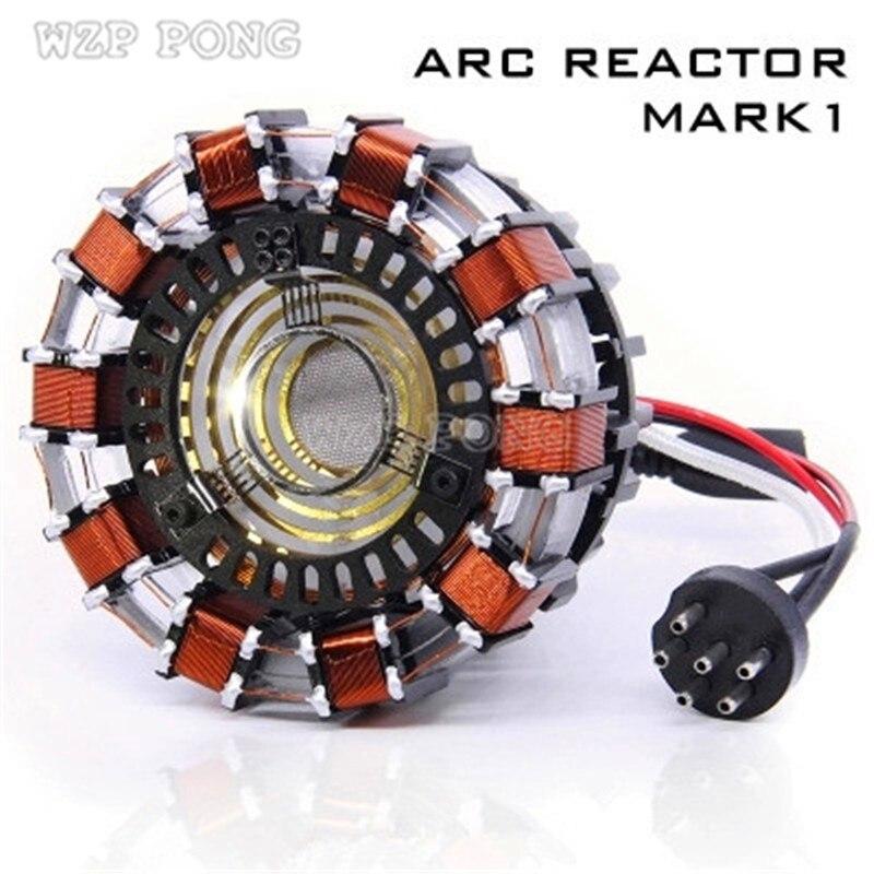 Avengers Échelle 1:1 Iron Man Arc Reactor Action Figure À Distance Lumière Arc MK1 Iron Man DIY Pièces Modèle Assemblé Jouets Poitrine Lampe