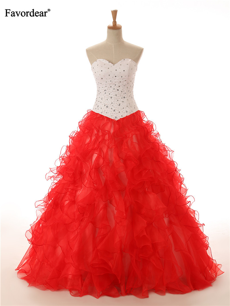 Favordear New Ruffles Sparkly Beading Long Ball Gowns Lace Up Back Sweetheart Vestido De 15 Anos De Cap Quinceanera Dress 2019