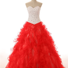 Favordear Ruffles Sparkly Ball Gowns Quinceanera Dress 2019