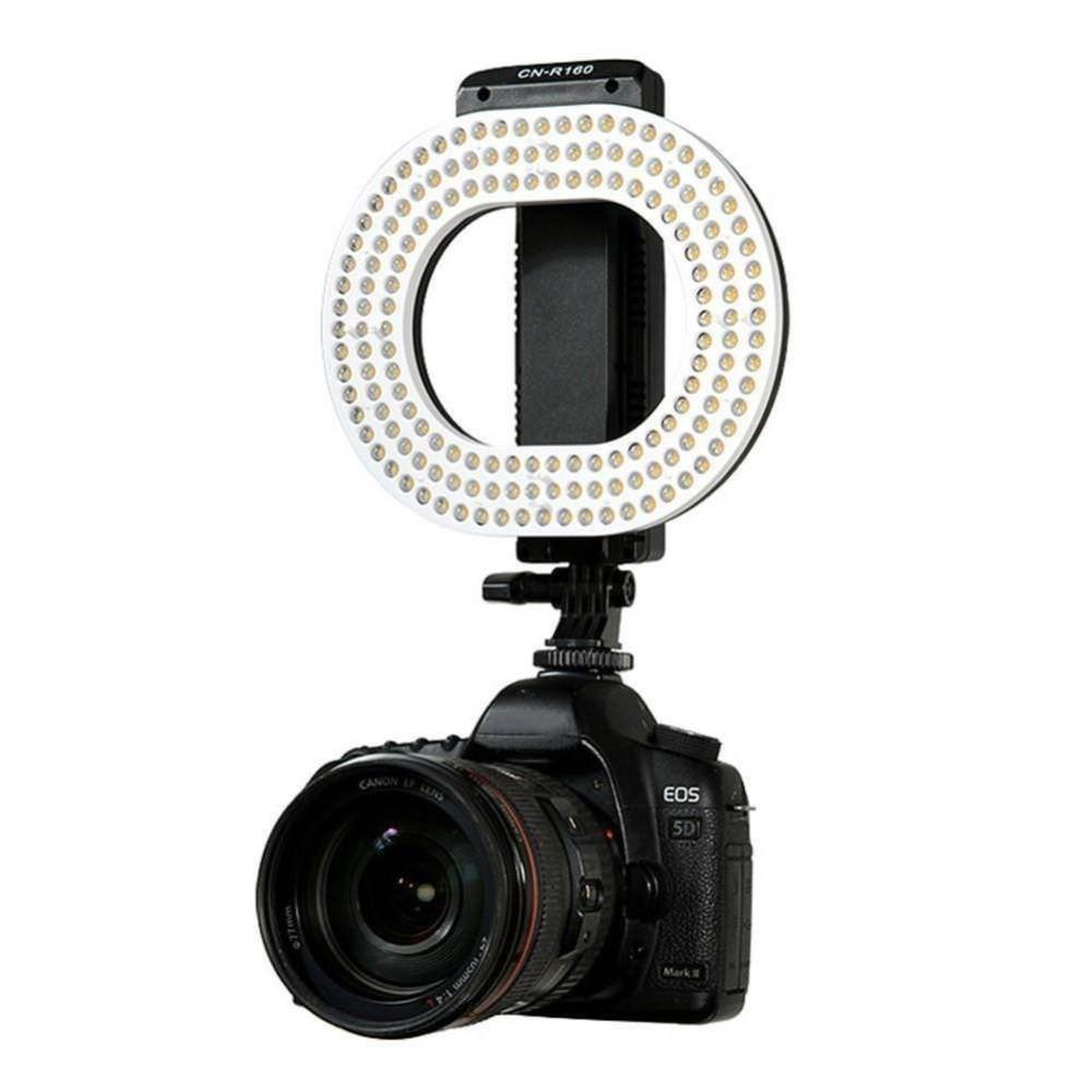 NanGuang CN-R160 LED Video Light 5600K/3200K Independent Dimming Ring LED light for Canon Nikon Sony DSLR DV Camera Lamp wansen w160led 12w 1280lm 5600k 3200k 160 led camera video light for canon nikon sony
