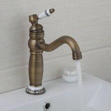 Кухня 97152 Ретро Дизайн Ванная комната сосуд Раковина Смеситель для одной ручкой на бортике бассейна кран античная латунь torneira