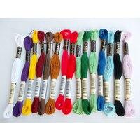 100 мотки вышивка нитью нити 8 м 6-слойные цвет многоцветный красочные поделки