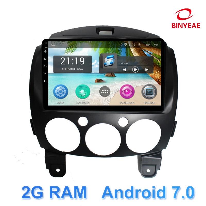 9 &#8220;Android 7,0 dvd-плеер автомобиля gps для Mazda 2 2007 2008 2009 2010 2011 2012 аудио автомобильный радиоприемник стерео навигатор с <font><b>bluetooth</b></font>, Wi-Fi