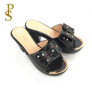 Image 4 - Alta tacco alto della signora pantofole pattini di estate di vendita calda
