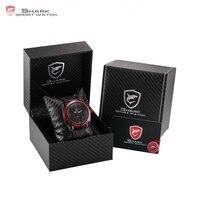 Luxury Relojes Leather Gift Box Thresher Shark Sport Watch Hollow Lug Case 3D Luminous Quartz Men