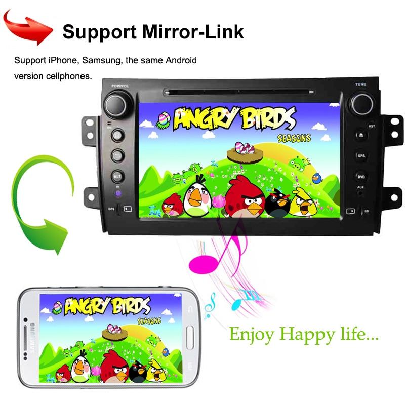 KANOR 1024*600 Octa Core Android 6.0 Car Video Multimedia For Suzuki SX4 2006-2012 Headunit GPS Navigation 2 Din Car Stereo