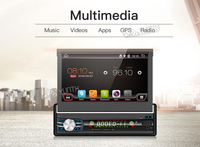 Single 1 Din Android 6 0 Quad Core Universal Car DVD GPS Multimedia 7inch Capacitive Cassette