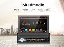 Unique 1 Din Android 6.0 Quad Core Universel Voiture DVD GPS Multimédia 7 pouces Capacitif Cassette Lecteur WIFI Bluetooth