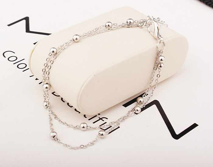 2019 New Fashion Footwear Jewelry Punk Style Gold / Silver Two-color Chain Ankle Bracelet Free Shipping Bracelet Leg Jewelry