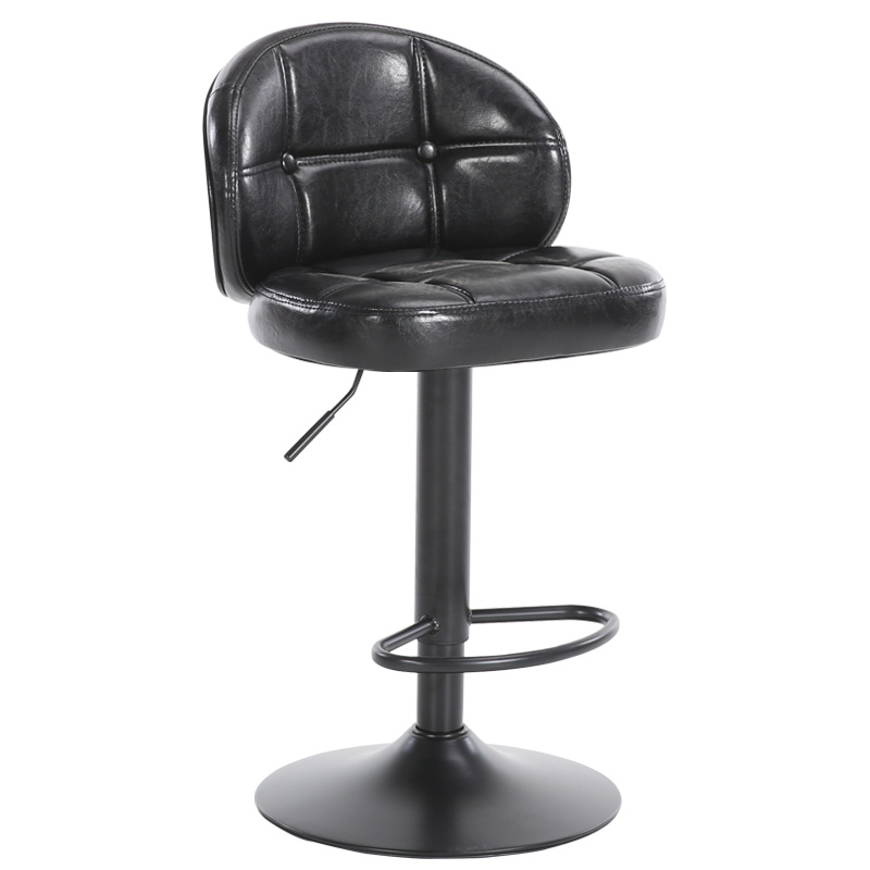 Furniture Methodical Continental Classical Bar Chair Coffee Shop Fashion High Stool With Backrest Lift And Rotating Chair Bar Stools Hokery To Invigorate Health Effectively