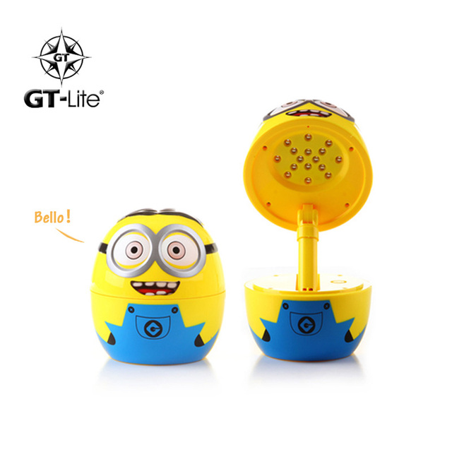 Originality Rechargeable LED Lamp Cartoon Minions Night Light Bed Desk Table Lamp Book Reading Bulb Nightlight mimi lovely lamp