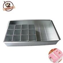 WIILII 1 Satz Aluminium DIY Kuchenform Alphabetisch Anzahl Backform Für Chiffon Dessert Mousse