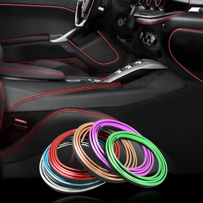 5M Car Styling Interior Decoration Strips Moulding Trim Dashboard Door Edge Universal For Cars Auto Accessories In Car-styling shineka abs 4 colors auto door interior decoration trim for chevrolet camaro 2017 car styling accessories