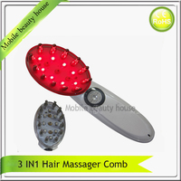 Hair LossTreatment Electric Scalp Follicle Stimulator Laser Photon Bio Microcurrent Head Massager Comb