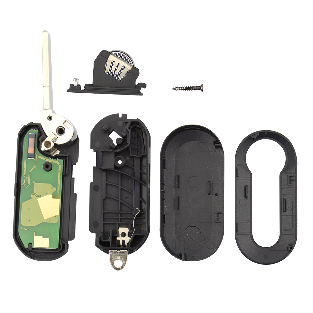 Image 5 - OkeyTech for Fiat Remote Control Key 433mhz ID46 PCF7946 Chip 3 Button Flip Folding for Fiat 500 Bravo Ducato Grande 2010 2016-in Car Key from Automobiles & Motorcycles
