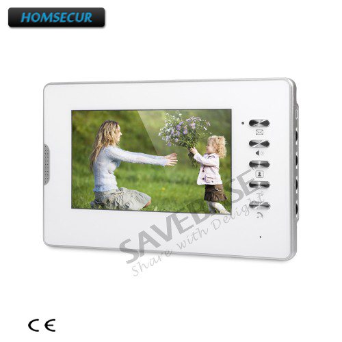 HOMSECUR 7 Color Indoor Monitor (XM702-W) with Mude Mode for Video Door Phone Intercom System homsecur 7 color indoor monitor xm710 s for video door phone intercom system