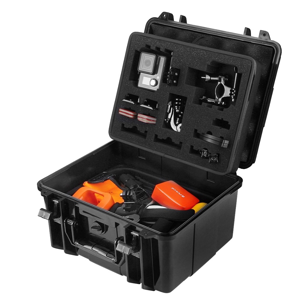 PULUZ Waterproof Dual Layers Portable Carrying Case stocker box for GoPro HERO