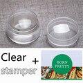 3 Pçs/set 3.5 cm Limpar Silicone Geléia Prego Stamper com Cap Xadrez projeto Da Arte do Prego do Stamper & 2 Raspador de Nail Art Decoração conjunto