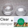 3 Unids/set 3.5 cm Transparente de Silicona Jelly Nail Stamper con Tapa de Ajedrez diseño Nail Art Stamper y Raspador 2 Decoración de Uñas de Arte conjunto
