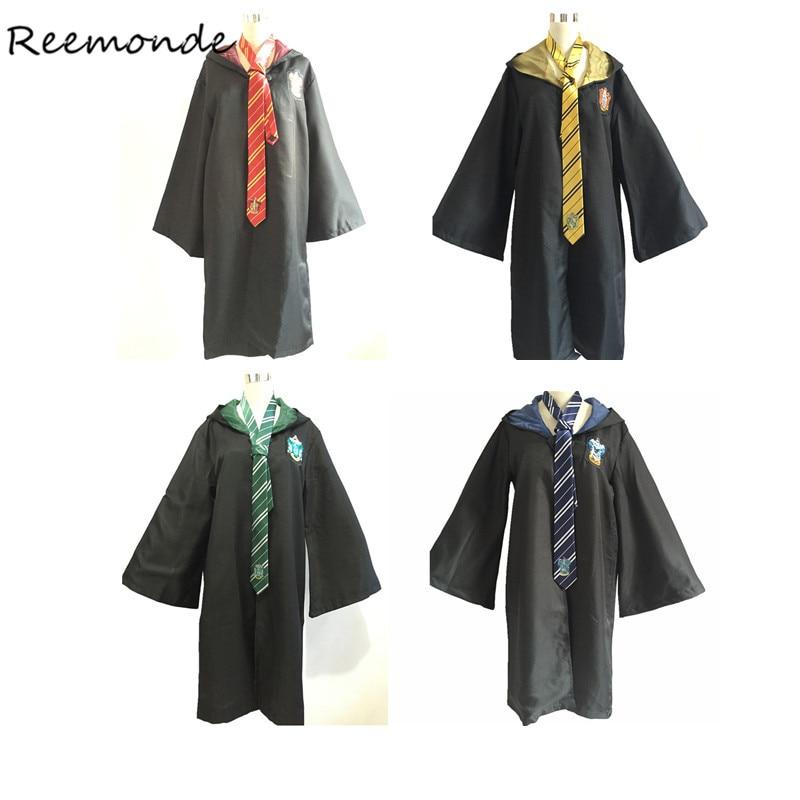 Gros Harri Potter 12 pcs Adulte Enfants Robes Manteaux Liens Cosplay Costumes Gryffondor Serdaigle Cape Manteau Serpentard Hommes Femmes