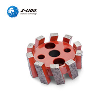 Z LION CNC Stubbing Wheel Segmented Type For Router Machine Calibrating Wheel Stone Granite Marble Diamond Profiling Wheel