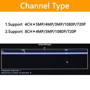 Image 4 - Enregistreur vidéo en réseau, 4 ou 8 canaux, pour caméra IP HD 1080P, PoE 802.3af ONVIF, 4ch x 5MP/8ch x 4MP, vidéosurveillance, NVR, avec porte PoE h265