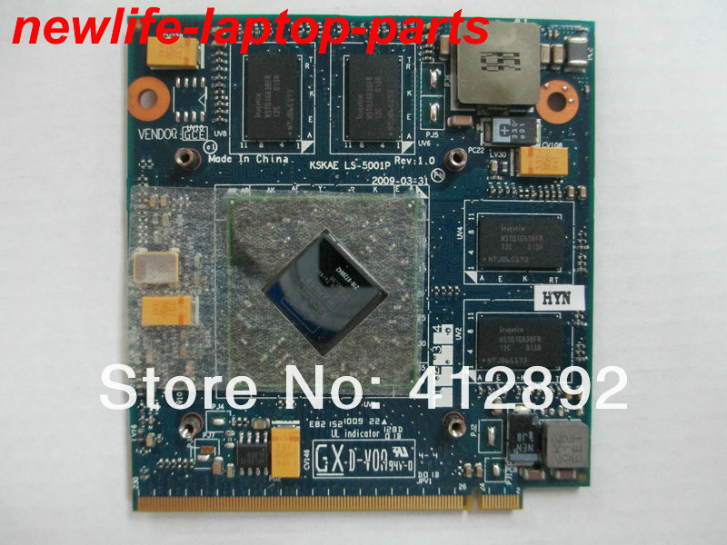 FREE ship A500 L500 L550 VGA Video Card HD4650 M96 DDR3 1G ATI 216-0729042 KSKAE LS-5001P K00005001 MXM II 100% TESTED FULL 216 0729042 216 0729042 chips 100