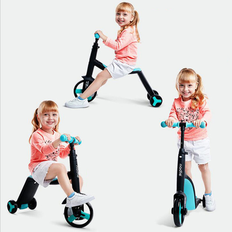 Baby Walker 3 In 1 Baby Balance Bike Children Scooter Tricycle Three Wheel Ride On Toys Car new children three wheel balance car scooter foldable no foot pedal child swing car twist car baby walker tricycle riding toys