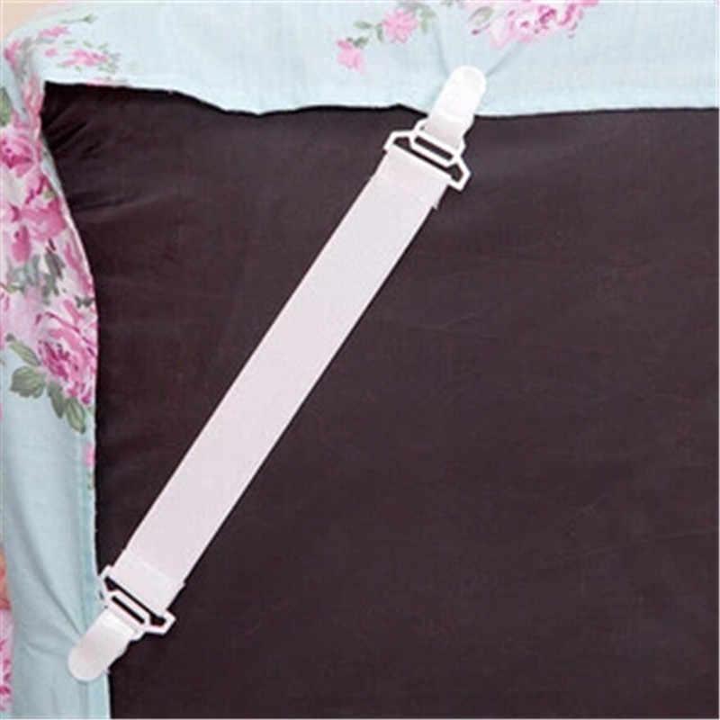 4 szt. Prześcieradła na łóżko pokrycie materaca chwytaki zacisk mocujący elastyczne zapięcia na satynowe prześcieradła