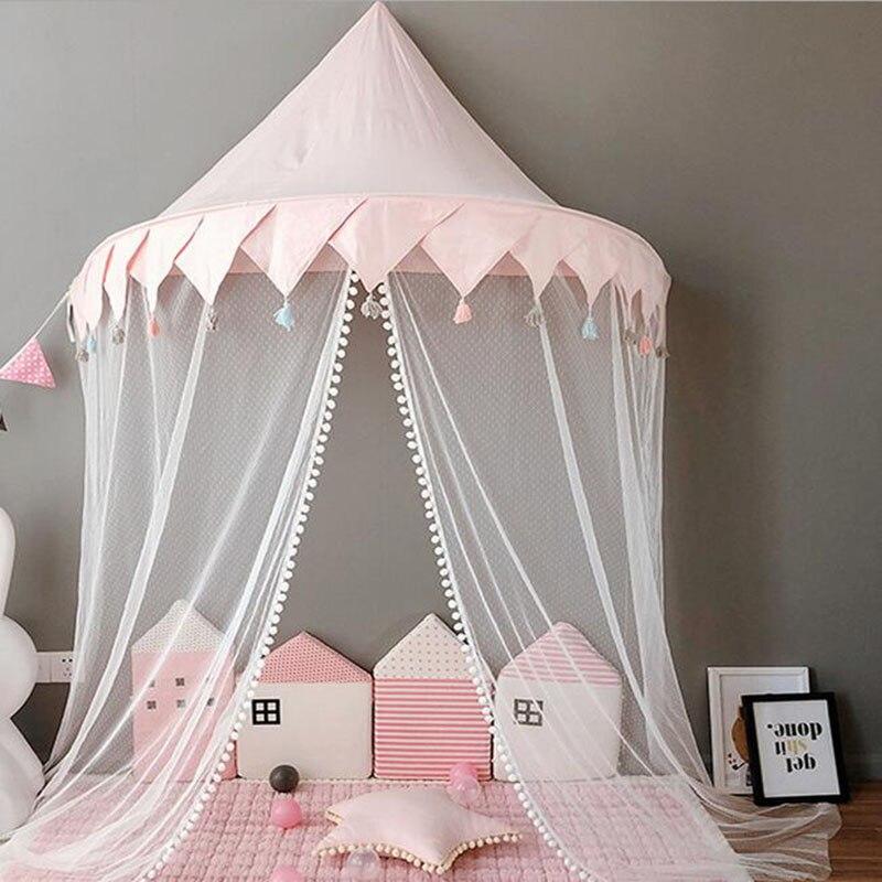 Tente de Tipi pour enfants pliable Tipi berceaux en coton suspendus Wigwam piscine sèche nouveau-nés nordique chambre décor accessoires de photographie - 4
