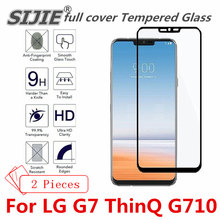 2 pcs full cover Tempered Glass For LG G7 ThinQ G710 Suitable Screen protective toughened fit on edges case friendly clear frame цены