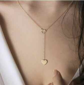 Seblasy สไตล์เรียบง่าย Moon ใบหัวใจไข่มุกพู่โซ่จี้สร้อยคอผู้หญิงส่วนของขวัญอุปกรณ์เสริม