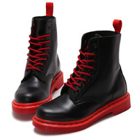 British Handmade Men Women Boots Autumn Winter Genuine Leather DR Martin Boots Fashion Lace Up Couples