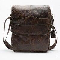 NEW Brand Genuine Leather Men Bag Business Shoulder Bag Vintage Handbags High Quality For Natural Cowhide