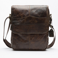 NEW Brand Genuine Leather Men Bag Business Shoulder Bag Vintage Handbags High Quality For Natural Cowhide