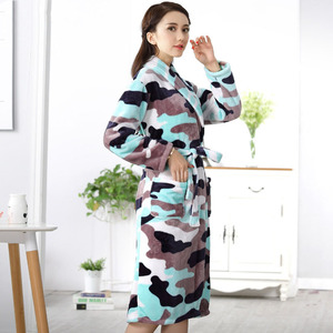 Image 4 - Inverno mini quimono das mulheres robe moda outono senhora flanela banho vestido yukata camisola sleepwear pijamas um tamanho