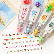 1pcs Creative Lace Correction Tape , Colorful Decoration for kids to correct mistake in school