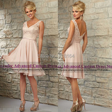 Elegant short modest coral pink chiffon bridesmaid dress lace party dress vestidos de novia de casamento formal dress vestido