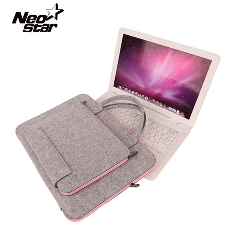 Fashion Wool Felt Laptop Bag For Mac 11 13 15 17 Mouse...