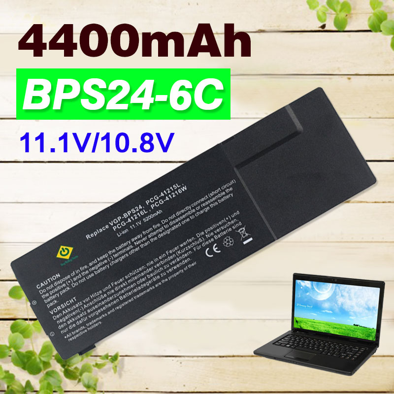 4400mAh 11.1v laptop Battery For Sony VGP-BPS24 VGP-BPL24 BPS24 BPL24 VGP For VA