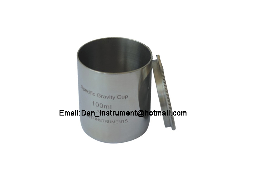 High quality 100ml Stainless steel Density Specific Gravity Cups with DIN 53217,ISO 2811 and BS 3900 A19. Standard high quality 37ml stainless steel density specific gravity cups with din 53217 iso 2811 and bs 3900 a19 standard