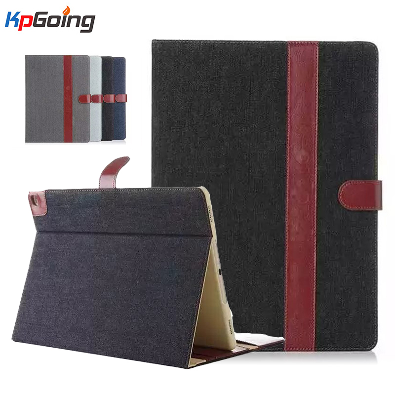 Retrol Business Case for IPad Air 2 Vintage Cowboy Pu Leather Case for Ipad Air 2 Card Slot Flip Stand Tablets Case Grey Black flip left and right stand pu leather case cover for blu vivo air
