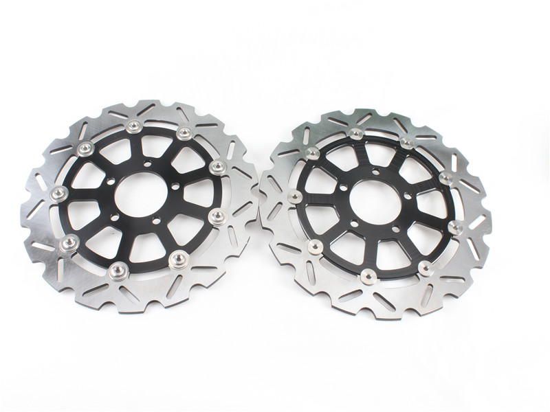 1 Set Motorcycle Front Brake Disc Rotor For KAWASAKI ZZR1400 ZX-14R ABS/non-ABS (ZX1400) 2006-and up 07 08 09 10 11 12 13 14 15 rambach peugeot 206 1 4 hdi 68 л с
