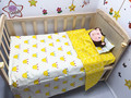 Promotion! 3PCS Bed Sheet Pillowcase 100% Cotton Bedding Set for Crib Cradle ,include(Duvet Cover/Sheet/Pillow Cover)