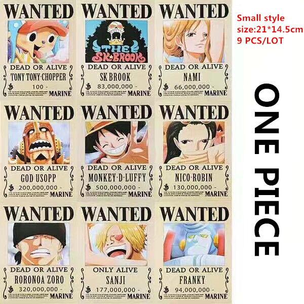 9 ONE PIECE Wanted Posters Style 2