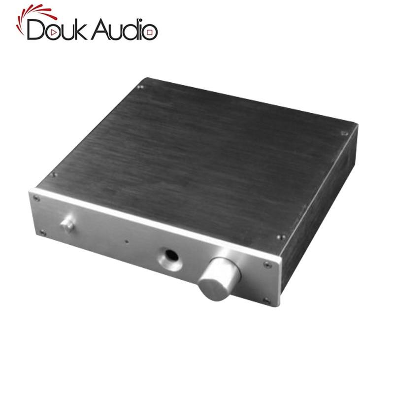 Douk Audio black Aluminium Case Amplifier Enclosure Headphone Amp Chassis queenway audio bz2012rkv aluminium amplifier chassis multi amplifier case 202mm 143mm 362mm 202 143 362mm