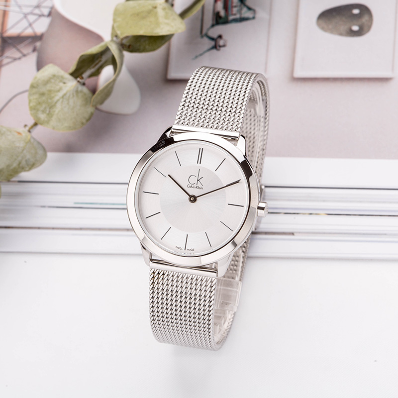 CalvinKlein MINIMAL Series Woven Quartz Ladies Watch K3M22126 цена и фото