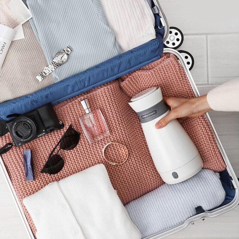 Xiaomi Portable bouilloire électrique 500 mL en acier inoxydable bouteille d'eau chaude Anti-échaudage bouilloire longue durée thermique fiole pour voyage - 6