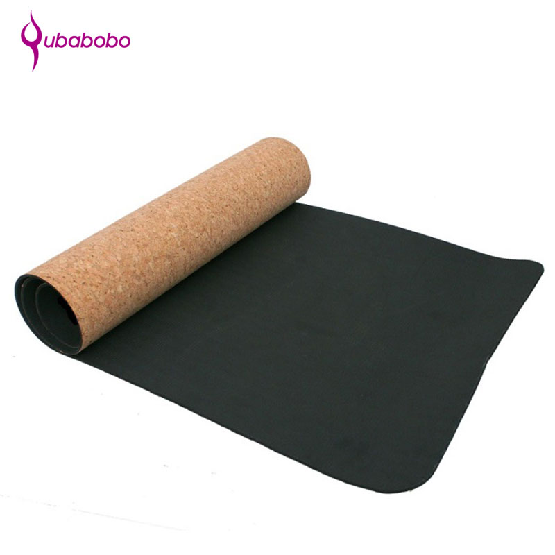 [QUBABOBO] High Quality Cork+TPE Yoga Mat Fitness Mat Gymnastics Cushion Non-slip Pilates Balance Sport Colchonete 4mm,5mm,6mm yoga pilates mat pu 5mm for beginners and seniors widened workout yoga pilates gym exercise fitness gym mat